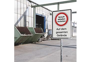 Schild Schutt abladen verboten
