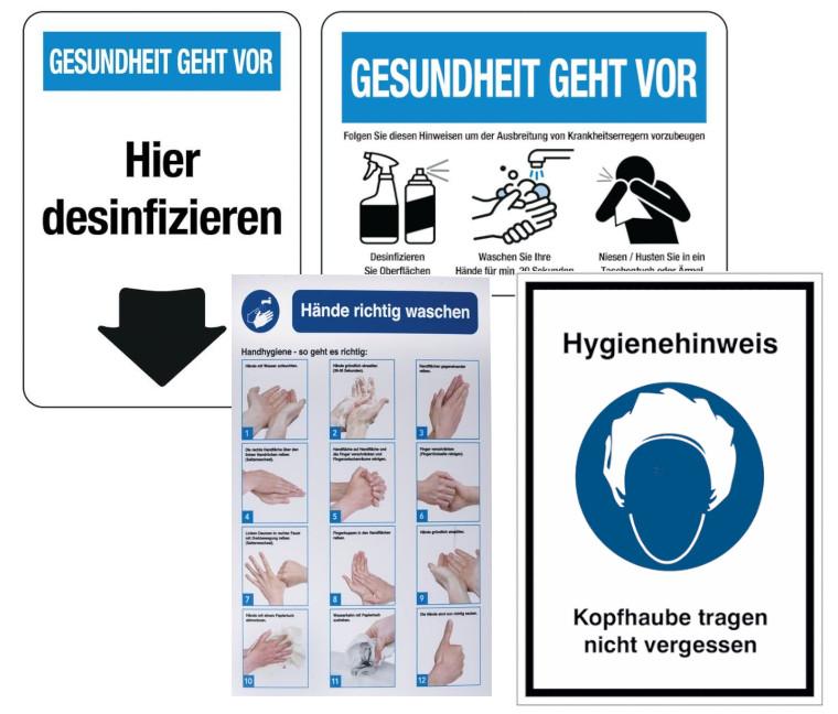 desinfizieren A4 Aufkleber Hygieneregeln Hygiene schützt vor Viren Folie Corona