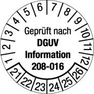 Geprüft nach DGUV Info 208-016