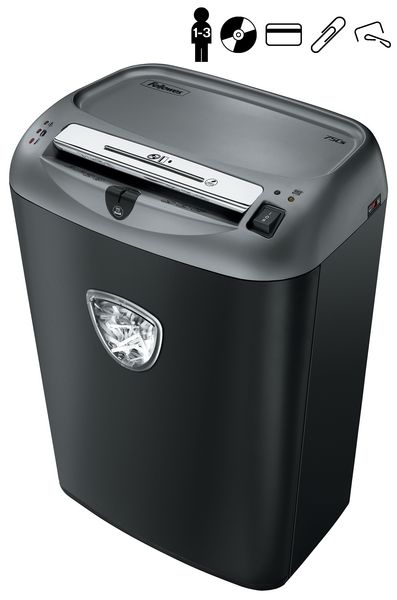 Destructora de papel Fellowes 75CS, 1-3 personas, 27 L