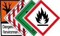 Pictogrammes de produits chimiques et dangereux