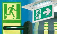 Issues de secours: blocs lumineux et marquage (autocollants)