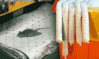 Absorbant pour huiles et hydrocarbures, kit anti-pollution