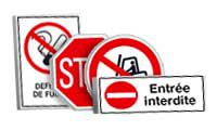 Panneaux et pictogrammes Interdiction