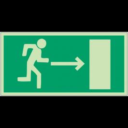 """Panneaux d'évacuation et de secours """"Homme qui court, flèche à droite"""""""
