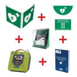 Kit défibrillateur ZOLL AED3 automatique avec armoire murale