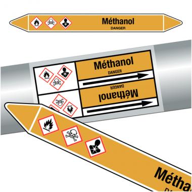"""Marqueurs de tuyauteries CLP """"méthanol"""" (Gaz)"""