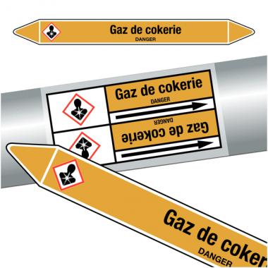 "Marqueurs de tuyauteries CLP ""Gaz de cokerie"" (Gaz)"