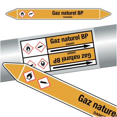 "Marqueurs de tuyauteries CLP ""Gaz naturel BP"" (Gaz)"