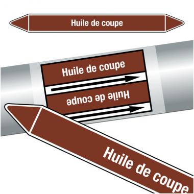 """Marqueurs de tuyauteries CLP """"Huile de coupe"""" (Liquides inflammables)"""