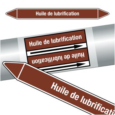 """Marqueurs de tuyauteries CLP """"Huile de lubrification"""" (Liquides inflammables)"""