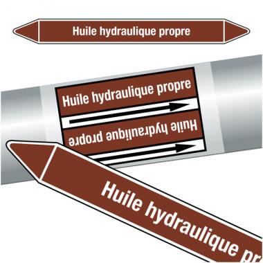 "Marqueurs de tuyauteries CLP ""Huile hydraulique propre"" (Liquides inflammables)"
