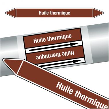 """Marqueurs de tuyauteries CLP """"Huile thermique"""" (Liquides inflammables)"""