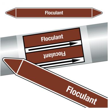 "Marqueurs de tuyauteries CLP ""Floculant"" (Liquides inflammables)"