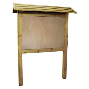 Panneau d'affichage planimètre en bois avec toiture de protection