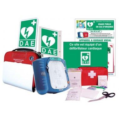 Prix Spécial - Pack complet défibrillateur HS1 Philips + trousse de secours