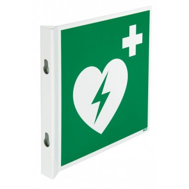 Pictogrammes NF EN ISO en aluminium Défibrillateur automatique externe pour le cœur