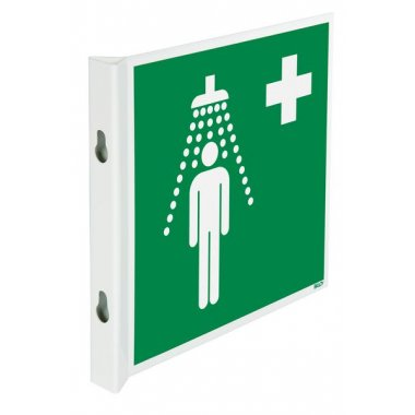 Pictogrammes NF EN ISO en aluminium Douche de sécurité
