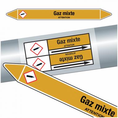 "Marqueurs de tuyauteries CLP ""Gaz mixte"" (Gaz)"