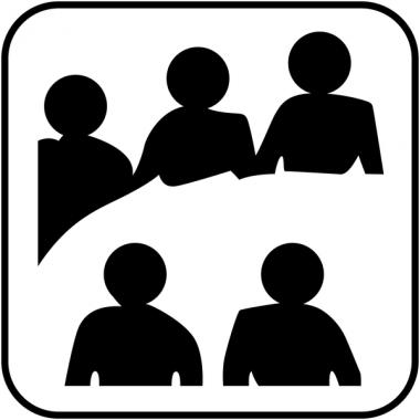 """Autocollants d'information transparents """"Salle de réunion"""""""