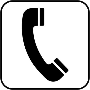 """Autocollants d'information transparents """"Téléphone"""""""