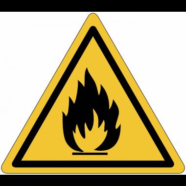 "Mini-Pictogramme d'informations individuels en feuilles ""Danger matières inflammables"""