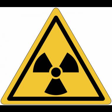 "Mini-Pictogramme d'informations individuels en feuilles ""Danger, matières radioactives ou radiations ionisantes"""