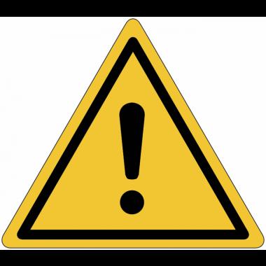 """Mini-Pictogramme d'informations individuels en feuilles """"Danger général"""""""