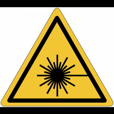 "Mini-Pictogramme d'informations individuels en feuilles ""Danger, rayonnement laser"""