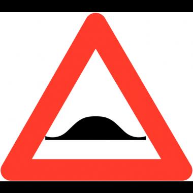 """Panneaux de circulation routière """"Ralentisseur de type dos-d'âne"""""""