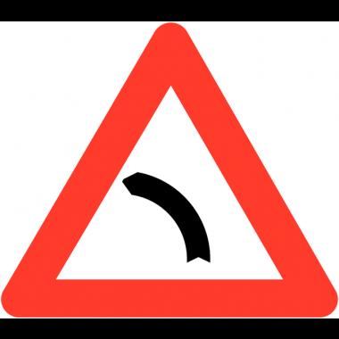 """Panneaux de circulation routière """"Virage à gauche"""""""