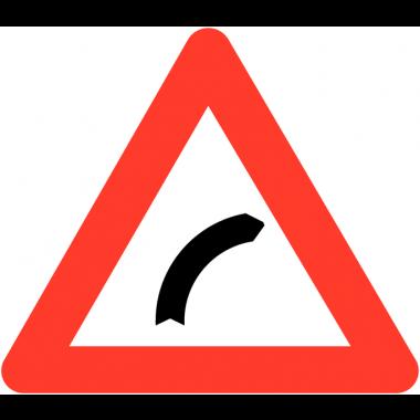 """Panneaux de circulation routière """"Virage à droite"""""""
