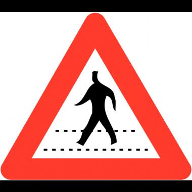 """Panneaux de circulation anti-graffiti Premium """"Passage pour piéton"""""""
