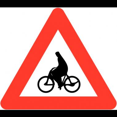 """Panneaux de circulation anti-graffiti Premium """"Débouché de cyclistes"""""""