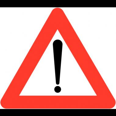 """Panneaux de circulation """"Danger général"""""""