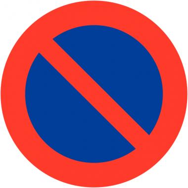"""Panneaux de signalisation en aluminium """"Stationnement interdit"""" / """"défense de stationner"""""""
