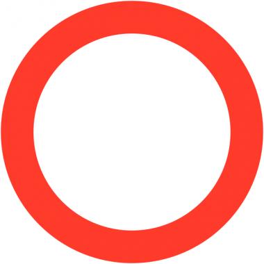 """Panneaux de circulation """"Circulation interdite à tout véhicule dans les deux sens"""""""
