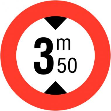 """Panneaux de circulation """"Hauteur limitée - 3m50"""""""
