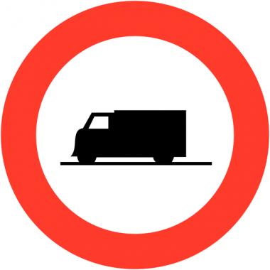 """Panneaux de circulation anti-graffiti Premium """"Accès interdit aux poids lourds"""""""