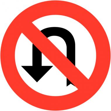 """Panneaux de circulation """"Interdiction de faire demi-tour"""""""