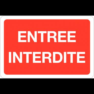 Panneaux rétroréfléchissant en aluminium - Entrée interdite