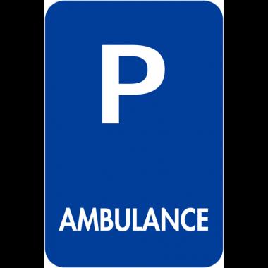 """Panneaux de signalisation """"Places de parking - Ambulance"""""""