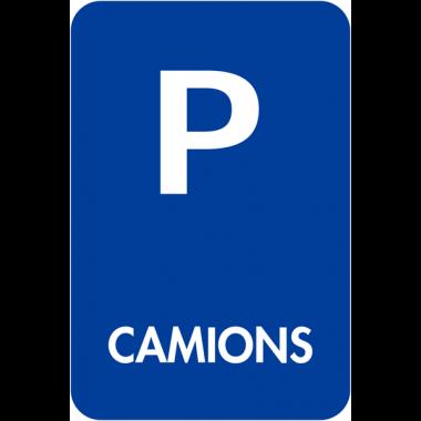 """Panneaux de signalisation """"Places de parking - Camions"""""""