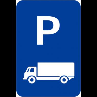 """Panneaux de signalisation """"Parking camions"""""""