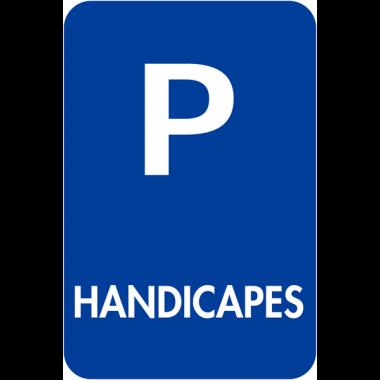 """Panneaux de signalisation """"Places de parking - Handicapés"""""""
