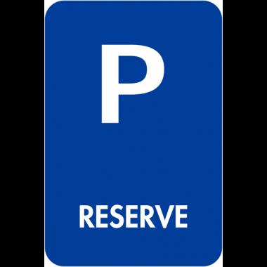 """Panneaux de signalisation """"Places de parking - Réservé"""""""