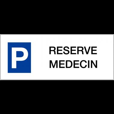 """Panneau de parking en aluminium """"Places de parking - Réservé médecin"""""""
