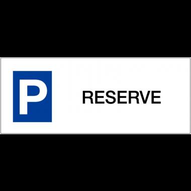 """Panneaux de parking en aluminium """"Réservé"""""""