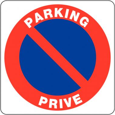 """Panneaux en PVC """"Stationnement interdit - Parking privé"""""""