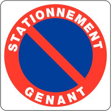 """Panneaux en PVC """"Stationnement gênant - Parking privé"""""""
